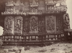 Hullabeed. The Great Temple. Sanctuary of the Southern Pavilion. [Hoysaleshwara Temple, Halebid.]